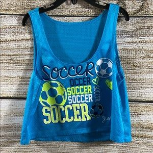 Girls Justice Soccer Crop Tank Top